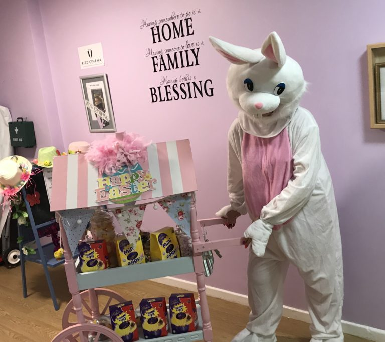 Easter fun with the Easter Bunny at Fairways Newydd